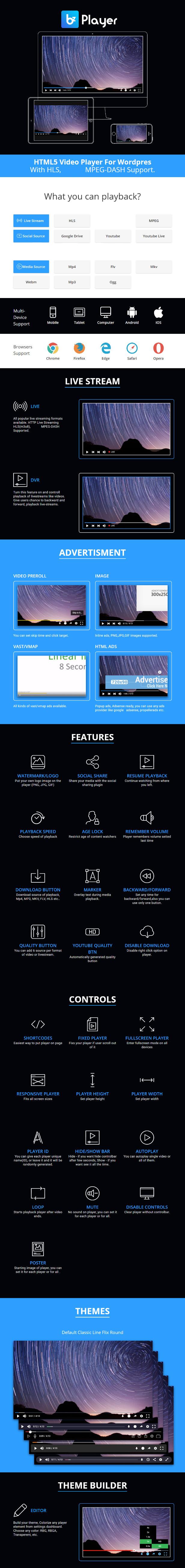 bzplayer Pro - Live Streaming Player WordPress Plugin - 4